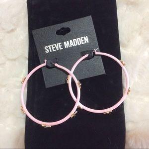 Steve Madden  Star Hoop Earrings